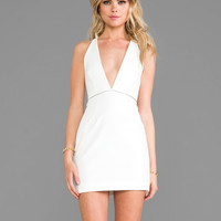 BEC&BRIDGE Light Ceramic Peplum Dress in White
