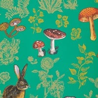 Mushroom Forest Wallpaper  by Nathalie Lete Multi One Size Wallpaper