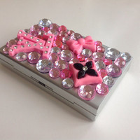 Pink Fashion Jeweled Cigarette Case