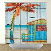 Shower Curtain Artistic Designer from DiaNoche Designs by Arist Danny Phillips Home Décor and Bathroom Ideas - Relax...No Working