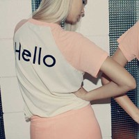 Wildfox Couture Charlie Retro Raglan in 70s Lipstick