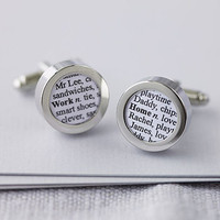 Personalised Words Cufflinks