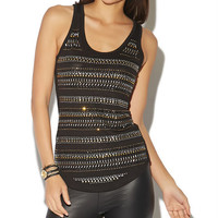 Beaded Front Slub Tank Top | Wet Seal