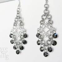 Crystal Chandelier Earrings - Unique Dangle Earrings