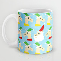 Unicorn Santa And Elves Mug by That's So Unicorny