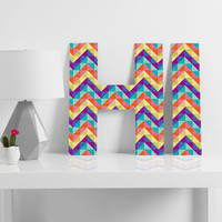Jacqueline Maldonado Chevron Facet 1 Decorative Letters
