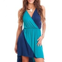 Two-Tone Hi-Low Dress