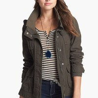 Ambition Hooded Twill Jacket (Juniors) | Nordstrom