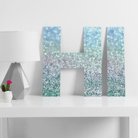 Lisa Argyropoulos Blue Mist Snowfall Decorative Letters