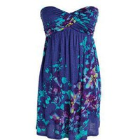 dELiAs > Floral-Print Strapless Dress > dresses > view all dresses