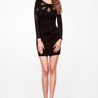 Keepsake Love Out of Lust Long Sleeve Dress in Black