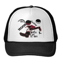 Cute retro vintage Bring it On Moon Landing HoHoHo Mesh Hat