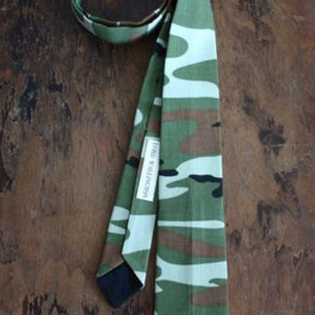 Camouflage Necktie Handmade by Lord Wallingtonn/Men's Ties/Mens Neckties/Gifts For Him/Gifts For Men/Stocking Stuffer/Christmas Gifts