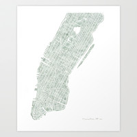 Manhattan NYC Art Print by Anne E. McGraw