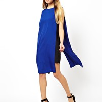 ASOS Contrast Soft Mini Tabbard Dress