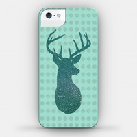 Faux Glitter Deer (Teal) Case