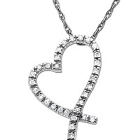 Jewelry & Accessories | Fast & Fab!: 65% Off Diamond Jewelry | Diamond Heart Pendant in White Gold | Lord and Taylor