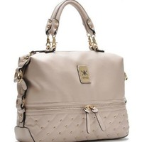 Fashion Women Lady Girl Message Shopper Hobo Tote Women's Studded Satchel w/ Shoulder Strap