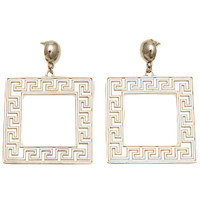 Athena Square Earrings (Silver)
