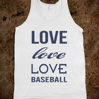 Skreened Love Baseball Tank Top Blue