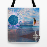 BEACH FANTA-SEA Tote Bag by catspaws