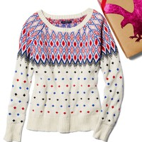AE FESTIVE FAIR ISLE SWEATER