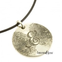 The You & Me Double Fingerprint Necklace - brent&jess
