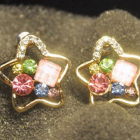 Colorful Starts Gemed Earrings