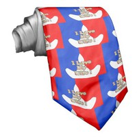 French Flag Hakuna Matata I love My Wife image.png Neck Ties