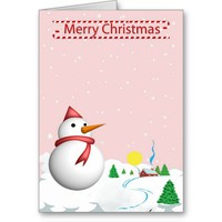 Snowman Greetings Greeting Card