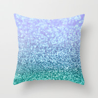 Winter Over Ocean Throw Pillow by Lisa Argyropoulos