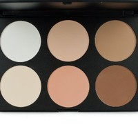 Frola Cosmetics Professional 6 Colors Contour Face Power Foundation Makeup Palette #01