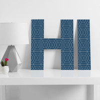 Vy La Blue Hex Decorative Letters