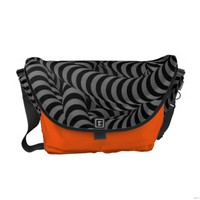 Abstract 3D Messanger Bags Messenger Bags