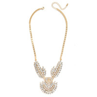 Crystal Laurel Necklace