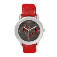 Sassy Hearts Red,Blk,White eWatch Has #/written