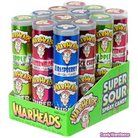 WarHeads Extreme Sour Spray Candy: 12-Piece Display