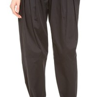 Pleated Wide Cut Trousers