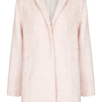 PETITE FLUFFY WOOL MIX COAT
