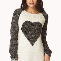 Marled Heart Raglan Sweater