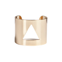 Triangle Cut Out Cuff