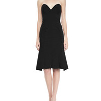 Nina Ricci Strapless Sweetheart Bustier Dress, Black