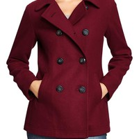 Women's Classic Wool-Blend Peacoats