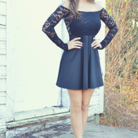 Adore Me In Lace Dress: Black