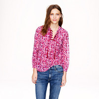 LIBERTY EMBROIDERED BIB PEASANT TOP IN KATIE ANN FLORAL