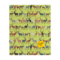 Sharon Turner Pistachio Spice Deer Rectangular Magnet Board