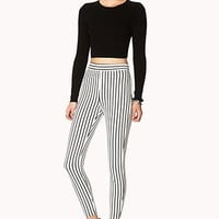 Mod Striped Cigarette Pants