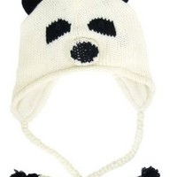 D&Y Women's Paco The Panda Animal Face Knit Hat