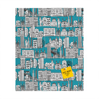 Sharon Turner New York Teal Rectangular Magnet Board