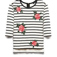 Floral Striped Top (Kids)